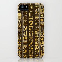 Gilded Hieroglyphs iPhone Case