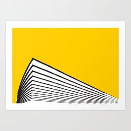Minimal geometric yellow black modern Art Print