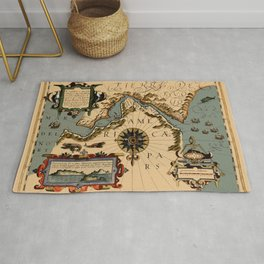 Map Of The Strait Of Magellan 1611 Rug