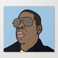 jay z Canvas Prints featuring Jay-Z by agr_artwork
