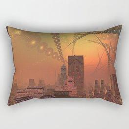 Spherople Alien City Rectangular Pillow
