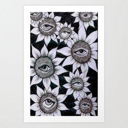 Sunflower Vision Art Print