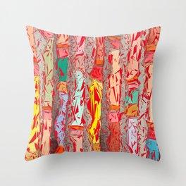 Red Shredder Throw Pillow