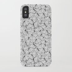 Butterflies Black on White iPhone X Slim Case