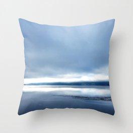 Soft winter sky Throw Pillow