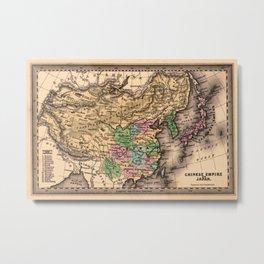 Map Of China 1832 Metal Print