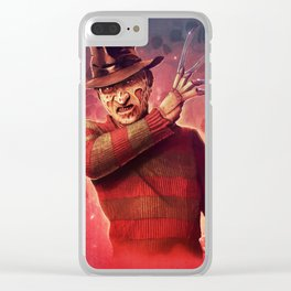 Freddy Krueger by Big Foot Studios Clear iPhone Case