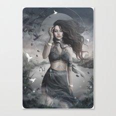 Rihanna Navy Canvas Print