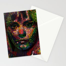 Capable Friend Of The Fifties Film Scream Queen Version Four  Stationery Cards