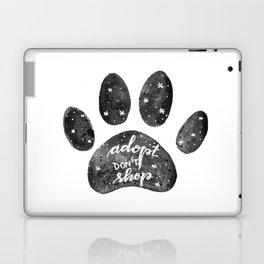 Adopt don't shop galaxy paw - black and white Laptop & iPad Skin