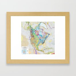 USGS Geological Map of North America Framed Art Print