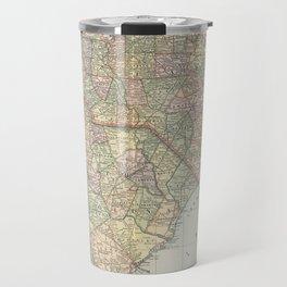 Vintage Map of The Carolinas (1891) Travel Mug