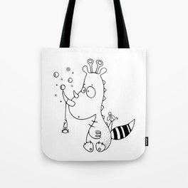 Le rhinodino Tote Bag