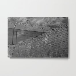Brick and wire Metal Print