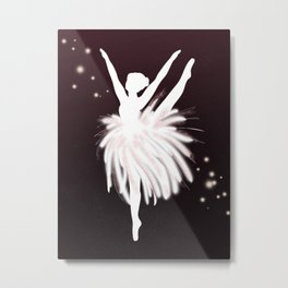 Space Ballerina (3 of 3) Metal Print