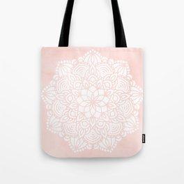 Mandala Mermaid Sea Pink by Nature Magick Tote Bag