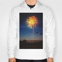 minnesota Hoodies featuring Minnesota Fireworks by Justine Joy