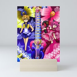 Sailor Mew Guitar #57 - Sailor Uranus & Mew Ichigo Mini Art Print