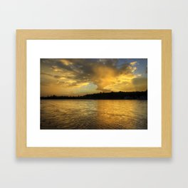 when the light turns to gold... Framed Art Print