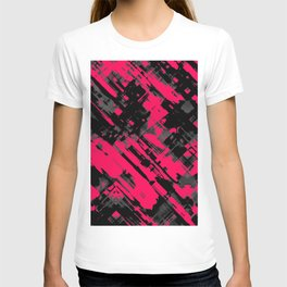 Hot pink and black digital art G75 T-shirt