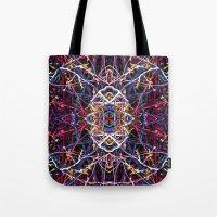baphomet Tote Bags featuring Baphomet 5 by Kevin PsychedeliK