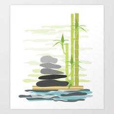 Feng shui meditation Art Print