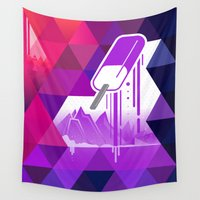popsicle Wall Tapestries featuring Grape Popsicle by Spires