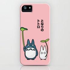 Chu & Chibi Totoro Pop art - Pink Version iPhone SE Slim Case