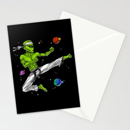 Space Alien Karate Ninja Stationery Cards