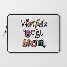 World's Best Mom Typography Laptop Sleeve