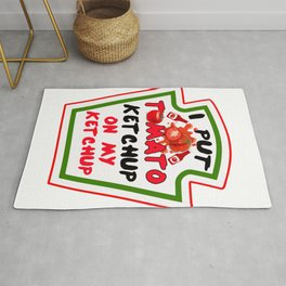 Put Ketchup on My Ketchup Tomato Costume product Rug