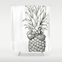 Sunny Days Pineapple Shower Curtain