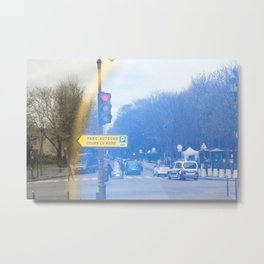Streets of Paris Metal Print