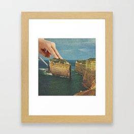 Serving up cake by the seaside II - Cake slice Framed Art Print