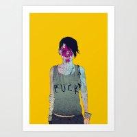 boneface Art Prints featuring Helle by boneface