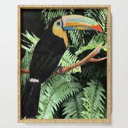 Toucan and Ferns Serving Tray