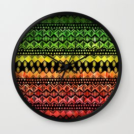 One Love Tribal {black} Wall Clock
