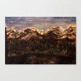 Mountain Lake at Night Canvas Print