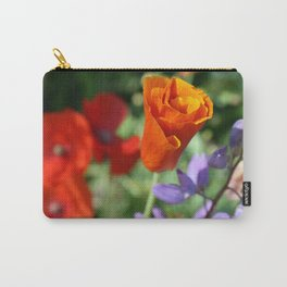 Orange Poppy Unfurling in Haines, Alaska by Mandy Ramsey Carry-All Pouch