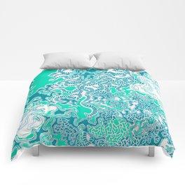 Cells Blue Comforters