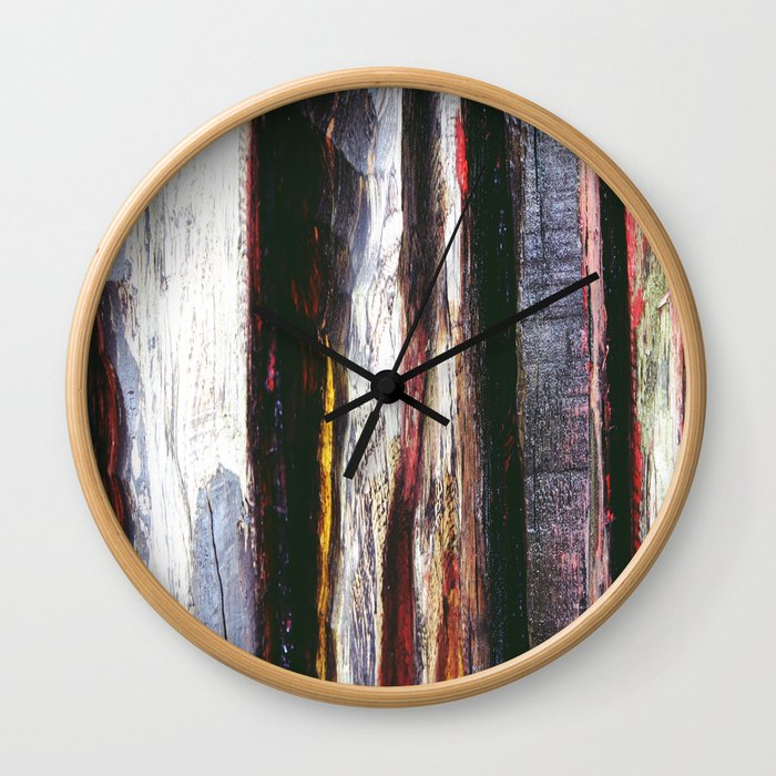 Aged Wood Structure rustic decor Wall Clock