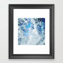 Blue Ocean Glow Framed Art Print