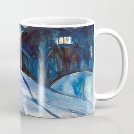Edvard Munch - Starry Night Coffee Mug