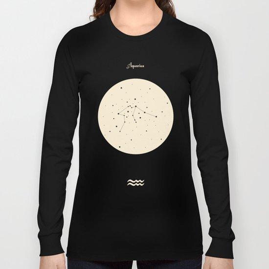 Aquarius - Blue Long Sleeve T-shirt