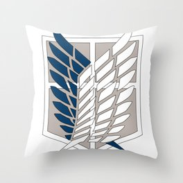 Wings of Liberty Atack on titan Throw Pillow