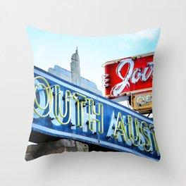 South Austin Neon Throw Pillow