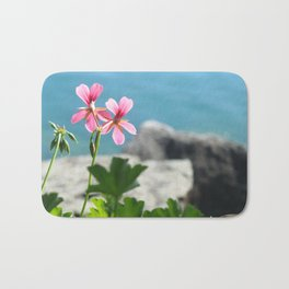 Lakeside Flowers I Bath Mat