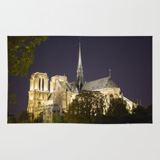 Notre Dame at Night Rug