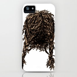 Messy dry curly hair 4 iPhone Case