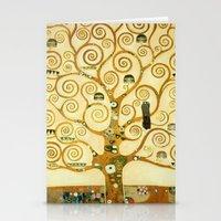 gustav klimt Stationery Cards featuring Gustav Klimt The Tree Of Life  by Art Gallery